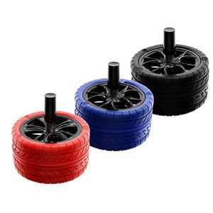 ATOMIC SPINNING ASHTRAY TIRE 3 COLORS (X6)