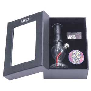 RAGGA BOX SET SMALL GLASS BONG + GRINDER